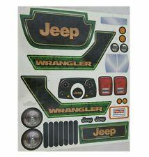 Power Wheels Décalque Étiquette Feuille Jeep Wrangler CBG65-0310