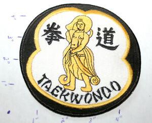NEW TAEKWONDO DEITY LARGE ROUND STITCHED UNIFORM PATCH Martial Arts MMA