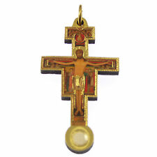 Third class relic wood crucifix cross St. Francis of Assisi 5cm new Catholic