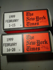 February 1999 New York Times on MICROFILM - 2 reels of film