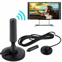 New Indoor Gain 30dBi Digital DVB-T/FM Freeview Aerial Antenna PC for TV HDTV FT