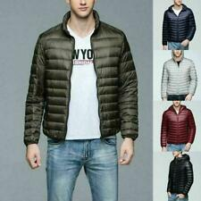 Factory Sale Men's Lightweight 90% Down Jacket Hooded Puffer Parka Coat Newest