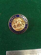 Bowls Enamel Badge Lawn Bowling Banks Bowling Association (2)