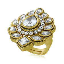 Spargz Traditional Finger Ring Studded Pear Diamond AIFR 046