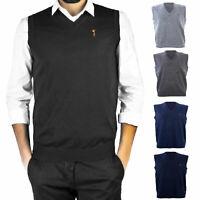 Gilet uomo maglione basic smanicato pullover casual scollo V TOOCOOL D-711