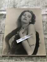"Rare Original Unpublished Photo Of Greta Garbo SIGNED 9""x7"" Hollywood"