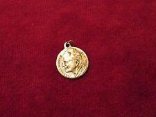 """Pope John Paul II & O.L. Czestochowa On Silver Alloy Medal 15/16"""" x 3/4"""" 2.6 Gr."""