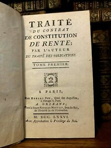 1776 TREATY ON RENT CONSTITUTION AND NEGOTIATION CHANGES