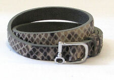 KEEP COLLECTIVE Double Leather Charm Bracelet Grey Snake/Distressed  PRE-OWNED