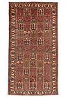 Vintage Tribal Oriental Bakhtiari Rug, 5'x10', Hand-Knotted Wool Pile