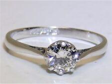 0.4CT DIAMOND  PLATINUM  SOLITAIRE  RING SINGLE STONE  ENGAGEMENT Size I