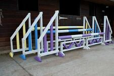 Quality horse show jumps set of3 complete with poles and fillers KEYHOLE TRACKS