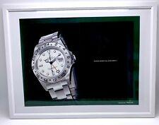 ♛ ROLEX Explorer II 16570 Polar Original Advert Advertising Memorabilia Framed ♛
