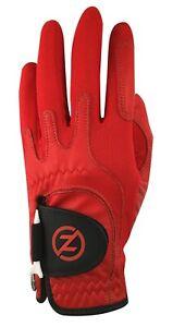 Zero Friction Mens Cabretta Leather Elite Golf Glove, Red, White, Grey or Blue