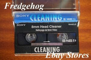 SONY 8mm/ Hi8 & Digital8 CAMCORDER HEAD CLEANER/ CLEANING TAPE/ CASSETTE V8-6CLD
