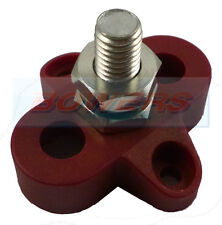 POSITIVE RED SINGLE POWER DISTRIBUTION POST BUSBAR BUS BAR 150A RATED