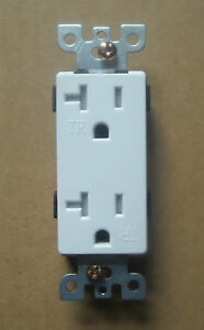 DECORA WALL 15A / 20A AMP RECEPTACLE PLUG OUTLET FIT 5325 16342 16352 WHITE - TR