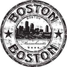 "Boston City Massachusetts USA Travel Car Bumper Sticker Decal 5"" x 5"""