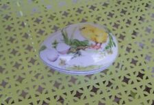 Antique 2 Piece Easter Egg Porcelain Hutschenreuther W/Rare Chick Paiting