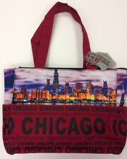 Robin Ruth Chicago Skyline Designer Fashion Tote City Bag w/ Front Pocket