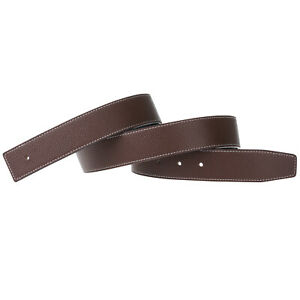 32mm/38mm Replacement Belt Strap Reversible Genuine Leather Belt (No Buckle)