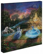Thomas Kinkade Cinderella Wishes Granted 14 x 14 Gallery Wrap Canvas