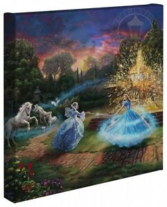 Thomas Kinkade Studios Cinderella Wishes Granted 14 x 14 Gallery Wrap Canvas