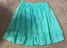 Lane Bryant Women's Plus Size 2x 18/20 Mint Green Pleated Flare Skirt EUC Floral