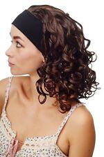 Damenperücke Perücke Stirnband voluminös Locken braun blond gesträhnt BRO-704