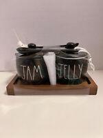 Black Rae Dunn Jam Jelly Pot Brand New