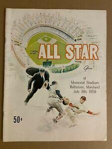1958 ALL STAR GAME Program ORIGINAL AARON Mantle MAYS Yogi BANKS Kaline MUSIAL