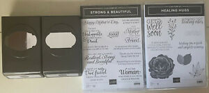 Stampin Up Strong and Beautiful & Healing Hugs sets with  2 label punch Bundle