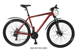 "Bike Mudguard Set 26"" & 700c Wheels MTB & Hybrid Fender Set Clip On Set 60mm"