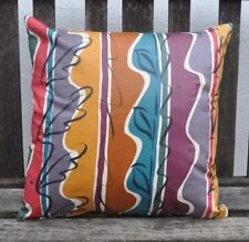 """NEW 16"""" reversible cushion Liberty Collier Campbell 'Our Garden Stripe' multi"""