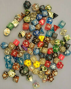 Huge Assorted Dice Lot 96 Mixed Polyhedral Die RPG D&D Dungeons Dragons Vintage