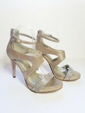 57126666734a Reaction Kenneth Cole Womens Shoes Gold Rhinestones Ankle Strap Heels 8.5 M