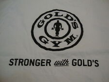 Gold's Gym Workout Bodybuilding Weightlifting Member White T Shirt XL
