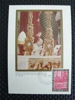 VATICAN MK 1966 PAPST PAUL POPE PAPA PAPIEZ MAXIMUMKARTE MAXIMUM CARD MC c5198