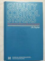 BOOK QUALITY CONTROL SYSTEMS PROCEDURES PLANNING PROGRAMS J.R. TAYLOR 0071009566