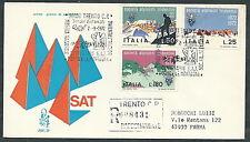 1972 ITALIA FDC VENETIA 329 SOCIETA ALPINISTI TRIDENTINI TIMBRO ARRIVO - EDG30-2
