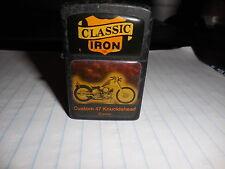 NOS Vintage Classic Iron Lighter 47 Knucklehead Harley Davidson HD Springer #4