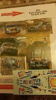 DECALS 1/43 REF 605 VW VOLKSWAGEN POLO S1600 KATAJAMAKI RALLYE TURQUIE 2003 WRC