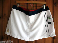 NWT Tommy Hilfiger White Navy Blue Hot Tennis Tammy Board Skirt Versatile L $56