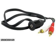CT29AX07 3.5mm flush mount headphone socket to RCA plugs Aux Input Lead