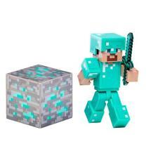 "Minecraft ~ Steve With Diamond Armor ~ 3"" Action Figure Inc Accessories"