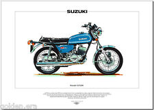 SUZUKI GT250 - Motorcycle Fine Art Print - Classic 250cc twin Japanese motorbike