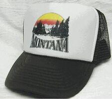 Montana Trucker Hat Mesh Hat Snap Back Hat Brown