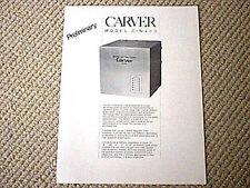Carver C-M400 power amplifier brochure catalogue