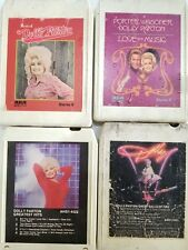 Dolly Parton 8 track tape collection 4 albums LQQK