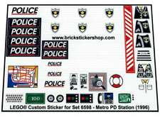 Precut Custom Replacement Stickers voor Lego Set 6598 - Metro PD Station (1996)